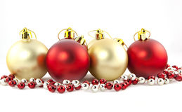 Christmass balls isolated Royalty Free Stock Photo