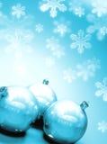 Christmass balls with snow Stock Image