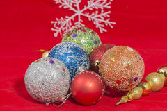 Christmass balls Stock Images