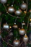 Christmass bals和装饰 免版税库存照片