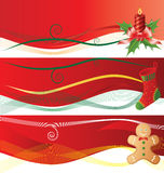 Christmass banners Royalty Free Stock Images