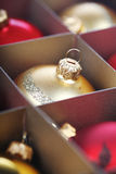 Christmass bauble in box Royalty Free Stock Images