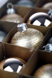 Christmass bauble in box Royalty Free Stock Image