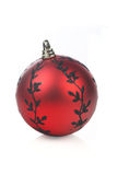 Christmass bauble on white background Stock Photos
