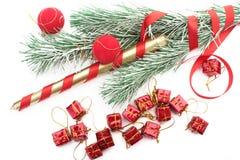 Christmass Baum innen über Weiß Lizenzfreies Stockbild