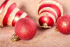 Christmass bell and ball Stock Image
