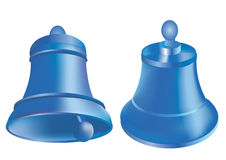 Christmass_bells_blue. Two  illustrations of blue bells Stock Image