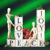 Christmass Blessings on Green Royalty Free Stock Photo