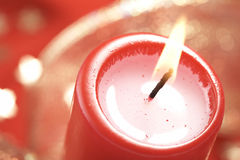 Christmass candle background Stock Photos