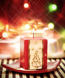 Christmass candle close up royalty free stock photos