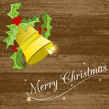 Christmass card with bell Stock Photo