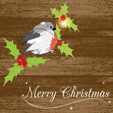 Christmass card with bird Royalty Free Stock Photo