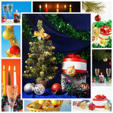 Christmass collage. Christmass and New year's holiday collage Royalty Free Stock Image