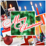 Christmass collage. Christmass and New year's holiday collage Stock Images
