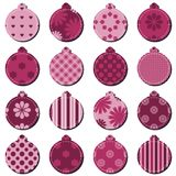 Christmass decor balls scrapbook on white background Stock Photos