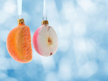 Christmass Decoration Orange Apple Stock Image
