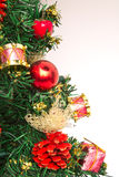 Christmass decoration on white background Royalty Free Stock Photos