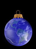 Christmass earth ball Royalty Free Stock Image