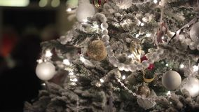 Christmass fir tree. With decoration stock video