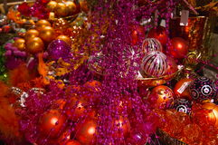 Christmass glass balls. Red colored Stock Image