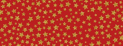 Christmass glitter gold stars repeat seamless pattern background. Can be used for fabric, wallpaper, stationery, packaging royalty free stock photo
