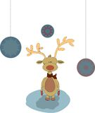 Christmass illustration - deer Stock Photos