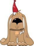 Christmass illustration - dog Stock Images