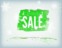 Christmass inky banner Royalty Free Stock Photography