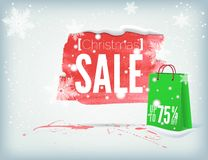 Christmass inky banner Royalty Free Stock Images