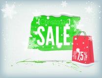 Christmass inky banner Stock Image