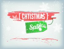 Christmass inky banner Stock Photo