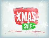 Christmass inky banner Royalty Free Stock Image