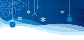 Christmass karta z płatkiem Fotografia Royalty Free