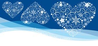 Christmass karta z płatkiem Zdjęcia Stock