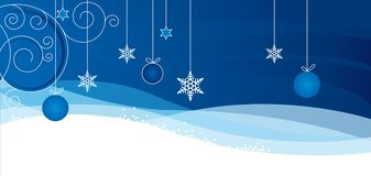 Christmass-Karte mit Flocke stock abbildung