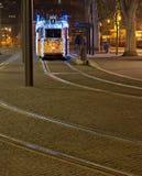 Christmass-Lichter in Budapest Lizenzfreies Stockfoto