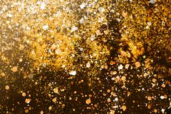 Christmass mood  dark broun and yellow  background Royalty Free Stock Images