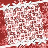 Christmass and new year background with lace. And bows Stock Photography