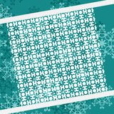 Christmass and new year background with lace. Illustration Royalty Free Stock Photos