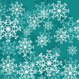 Christmass and new year background with snowflakes Stock Photography