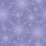 Christmass and new year background with snowflakes. Illustration Stock Photo