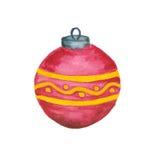 Christmass piłka odizolowywająca Obrazy Stock