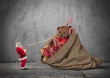 Christmass in pieno del presente Fotografia Stock Libera da Diritti