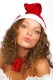 christmass pocałunek Zdjęcia Royalty Free