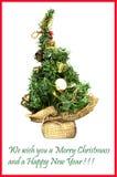 Christmass Postkarte Stockfoto