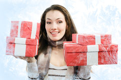 Christmass presents Stock Images