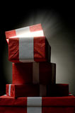 Christmass presents from Santa Stock Photo