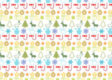 Christmass seamless pattern. Christmas elements seamless pattern wrapping background Stock Images