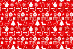 Christmass seamless pattern. Christmas elements seamless pattern wrapping background Stock Photo