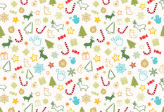 Christmass seamless pattern. Christmas elements seamless pattern wrapping background Royalty Free Stock Photo